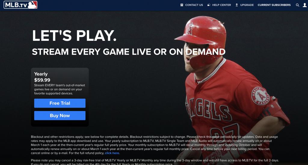 解决 MLB.tv Blackout